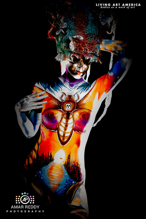 Living Art America::The Bodies Works of Art::The North American Body Painting Championship | A World Body-painting Association Sanctioned Event <br /> <br /> Artist: Ren Allen,<br /> Model: Brittney Isphording,<br /> Photographer: Amar Reddy<br /> <br /> www.livingartamerica.com<br /> www.AmarPhotography.com