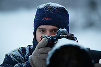NATURE AND WILDLIFE PHOTOGRAPHER SVEN ZACEK; FINLAND; 2009; WINTER; COLD; SNOWFALL; NIKON