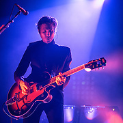Daniel Kessler of Interpol performs at Echostage in Washington, D.C. The band is currently touring behind their fifth studio album, El Pintor. (Photo by Kyle Gustafson)