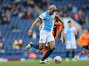Alex Baptiste, Blackburn Rovers defender during the Sky Bet Championship match between Blackburn Rovers and Brighton and Hove Albion at Ewood Park, Blackburn, England on 21 March 2015.
