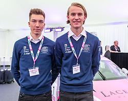 17.02.2020, BWT Headquarter, Mondsee, AUT, FIA, Formel 1, Racing Point Auto Präsentation, im Bild Johann Andre Forfang (NOR), Daniel Andre Tande (NOR) // during the FIA formula 1 car presentation of Racing Point at the BWT Headquarter in Mondsee, Austria on 2020/02/17. EXPA Pictures © 2020, PhotoCredit: EXPA/ Johann Groder