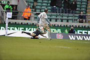 Twickenham, GREAT BRITAIN,  Oxfords' Peter CLARKE running in to score a first half try, during the 2008 Varsity Rugby match Oxford vs Cambridge played at the RFU Stadium Twickenham, Surrey on  Thursday, 11/12/2008 [Photo, Peter Spurrier/Intersport-images]