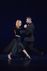 © Licensed to London News Pictures. 28/01/2016. London, UK. Decades Tangueras performed by Julia Hiriart Urruty and Claudio Gonzalez. Photocall for Sampled at Sadler's Wells Theatre. Sampled features a wide variety of dance, from classical ballet to hip hop, contemporary and tango, alongside workshops and events taking place throughout the building. Performances take place on 29 and 30 January 2016. Photo credit: Bettina Strenske/LNP