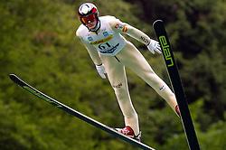 Matjaz Pungertar (SLO) of SSK Menges during Ski Jumping Summer Continental Cup in Kranj, on July 2, 2011, in Kranj, Slovenia. (Photo by Vid Ponikvar / Sportida)
