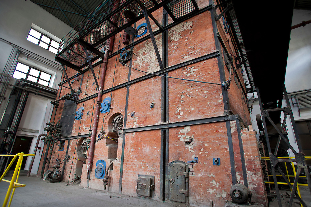 Old furnace, built in 1929, that used to power the Phillip Morris Cigarette Factory, Nis, Serbia. The older buildings on the complex will soon be turned into a museum.