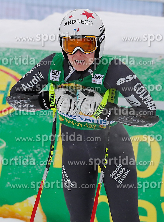 04.12.2016, Lake Louise, USA, FIS Weltcup Ski Alpin, Lake Louise, Super G, Damen, im Bild Romane Miradoli (FRA) // Romane Miradoli of France reacts after her run of the women's SuperG of the Lake Louise FIS Ski Alpine World Cup at the Lake Louise, United Staates on 2016/12/04. EXPA Pictures &copy; 2016, PhotoCredit: EXPA/ SM<br /> <br /> *****ATTENTION - OUT of GER*****