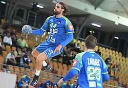 Dean Bombac of Slovenia during friendly handball match between Slovenia and Srbija, on October 27th, 2019 in Športna dvorana Lukna, Maribor, Slovenia. Photo by Milos Vujinovic / Sportida