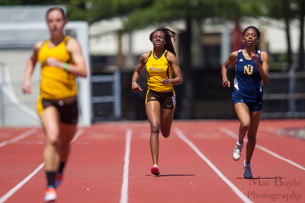 Rowan University's Tashay Wilson competes in the women's 400 meter at the NJAC Track and Field Championships at Richard Wacker Stadium on the campus of  Rowan University  in Glassboro, NJ on Sunday May 5, 2013. (photo / Mat Boyle)