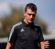 Marinus Dijkhuizen feeling the pressure going into his first competative match trailing during the Sky Bet Championship match between Brentford and Ipswich Town at Griffin Park, London, England on 8 August 2015. Photo by Matthew Redman.