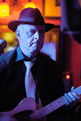 The G-MEN Soul Band at Meadow Farm.Lead Guitar - John Whyman.16 February 2013.Image © Paul David Drabble