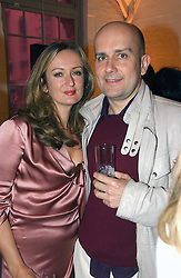 LUCY YEOMANS and MARK QUINN at a dinner hosted by Harpers Bazaar to celebrate the launch of the fragrance Flowerbomb by Viktor & Rolf held at Elms lester, Flitcroft Street, London WC2 on 31st May 2006.<br /><br />NON EXCLUSIVE - WORLD RIGHTS