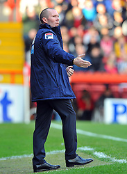 Blackpool Manger, Michael Appleton - Photo mandatory by-line: Joe Meredith/JMP  - Tel: Mobile:07966 386802 17/11/2012 - Bristol City v Blackpool - SPORT - FOOTBALL - Championship -  Bristol  - Ashton Gate Stadium -