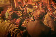 musician gathering to play in tavern