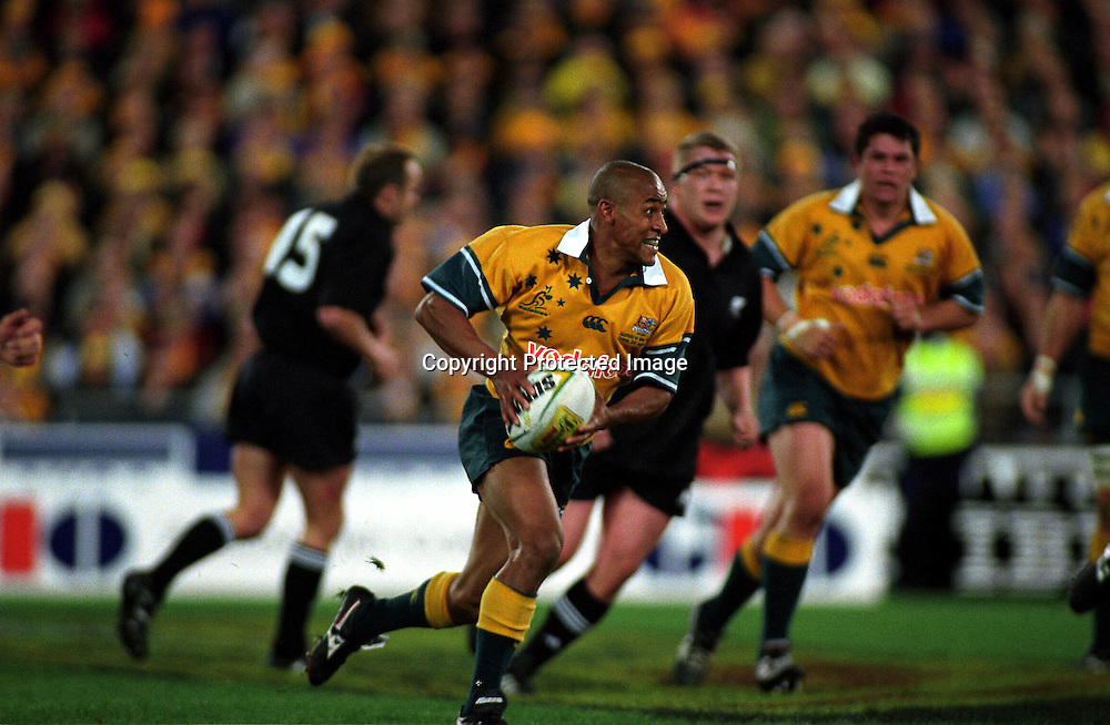 George Gregan in action during the rugby union Bledisloe Cup match between the All Blacks and Australia, Syndey, 3 August 2002. Photo: Ian McGregor/PHOTOSPORT
