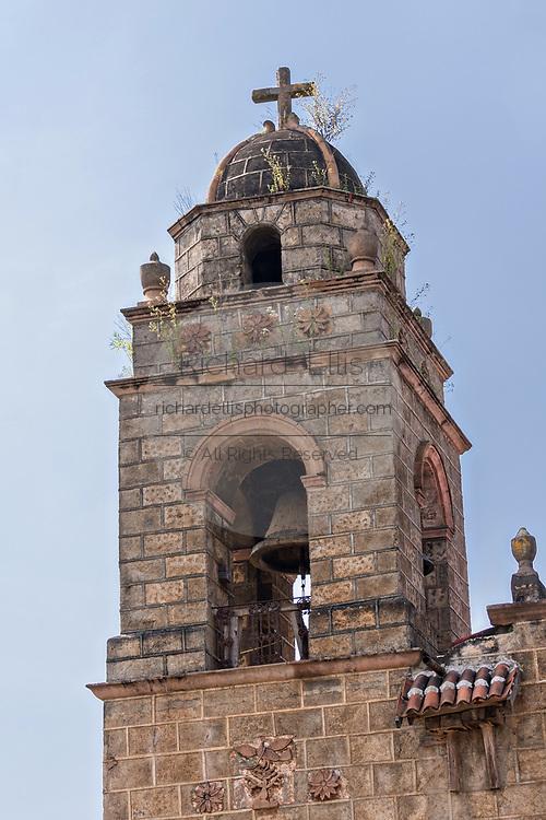 Templo de San Pedro Cucuchucho or Saint Peter Church in Cucuchucho, Michoacan, Mexico.