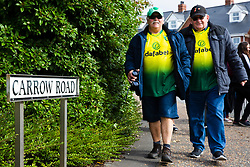 Fans arrive at Carrow Road - Mandatory by-line: Phil Chaplin/JMP - 05/10/2019 - FOOTBALL - Carrow Road - Norwich, England - Norwich City v Aston Villa - Premier League