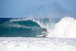 December 16, 2018 - Pupukea, Hawaii, U.S. - Miguel Pupo of Brazil advances to round 3 after placing first in round 2 heat 5 ​of the Billabong Pipe Masters. (Credit Image: © Tony Heff/WSL via ZUMA Wire)