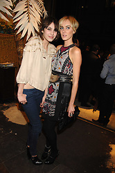 Left to right, ALEXA CHUNG and KIMBERLEY STEWART at a party hosted by Mulberry to celebrate the publication of The Meaning of Sunglasses by Hadley Freeman held at Mulberry 41-42 New Bond Street, London on 14th February 2008.<br />