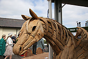 Wooden Horse at The Randox Health Grand National on Grand National Day at at Aintree, Liverpool, United Kingdom on 14 April 2018. Picture by Craig Galloway.