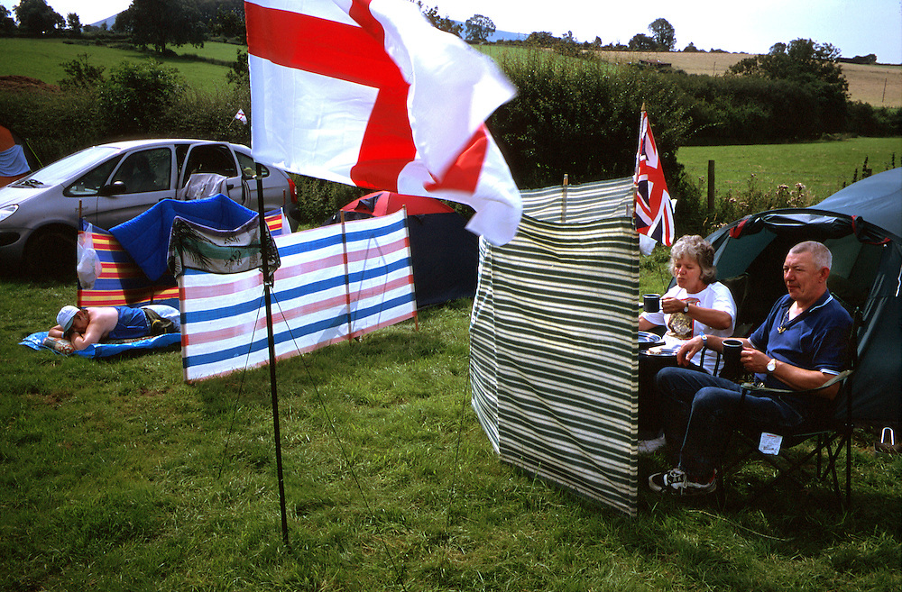 The British National Party held it's annual Red White and Blue festival in field at Sawley near the Lancashire town of Clitheroe, just north of Burnley. The BNP have 3 local councillors sitting on the Burnley city council, elected during the 2002 Local council Elections..