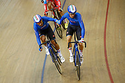 Men Madison, Francesco Lemon and Michele Scartezzini (Italy) during the Track Cycling European Championships Glasgow 2018, at Sir Chris Hoy Velodrome, in Glasgow, Great Britain, Day 5, on August 6, 2018 - Photo luca Bettini / BettiniPhoto / ProSportsImages / DPPI<br /> - Restriction / Netherlands out, Belgium out, Spain out, Italy out -