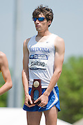 2011/05/28 - Nick Guarino of SUNY Fredonia on the podium after winning the 1500-meter final at the 2011 NCAA Division-3 Championships in Delaware, Ohio. Guarino ran 3:53.43, and later won the 800-meter run, making him the first Division-3 runner to win both events since Nick Symmonds in 2006.