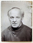 passport and identity portrait black and white photograph