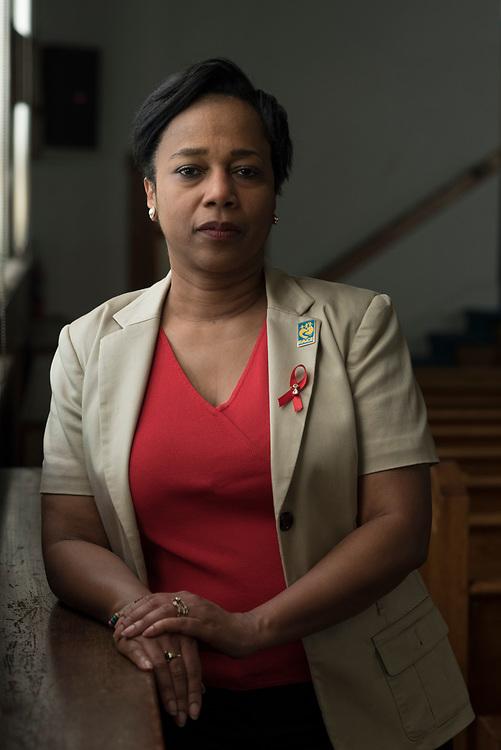 Trisha Gadson , Executive Director of FACE Macedonia, at Macedonia Baptist Church in the Hill District.