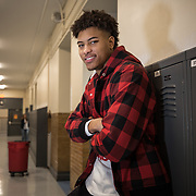 WASHINGTON, DC - MAR23: Washington Wizard Kelly Oubre, visits the Duke Ellington School of the Arts, March 23, 2017. (Photo by Evelyn Hockstein/For The Washington Post)