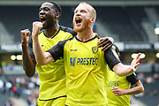 Burton Albion forward Liam Boyce celebrates scoring a goal during the EFL Sky Bet League 1 match between Milton Keynes Dons and Burton Albion at stadium:mk, Milton Keynes, England on 5 October 2019.