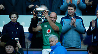 Rugby Union - 2019 Guinness Six Nations Championship - Scotland vs. Ireland<br /> <br /> Rory Best of Ireland collects the trophy at Murrayfield <br /> <br /> COLORSPORT/LYNNE CAMERON