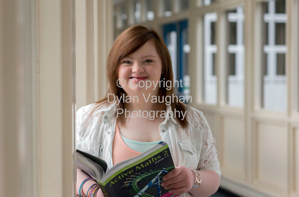 13/8/2013<br /> <br /> Hannah Brennan aged 20 pictured at St Leo's College in Carlow yesterday awaiting tomorrows Leaving Certificate results.<br /> Picture Dylan Vaughan.