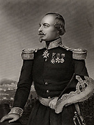 Francois Certain Canrobert (1809-1895) French soldier and Marshal of France. During the Crimean (Russo-Turkish) War (1853-1856)  he was twice wounded at the Battle of Alma. On the death of St Arnaud (1854) he assumed command of French forces and was again wounded at Inkerman leading a charge of Zouaves. Engraving.