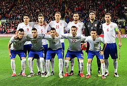 Serbia team line up. - Mandatory by-line: Alex James/JMP - 12/11/2016 - FOOTBALL - Cardiff City Stadium - Cardiff, United Kingdom - Wales v Serbia - FIFA European World Cup Qualifiers