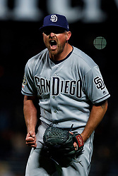 SAN FRANCISCO, CA - APRIL 08: Kirby Yates #39 of the San Diego Padres celebrates after the game against the San Francisco Giants at Oracle Park on April 8, 2019 in San Francisco, California. The San Diego Padres defeated the San Francisco Giants 6-5. (Photo by Jason O. Watson/Getty Images) *** Local Caption *** Kirby Yates