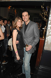 DAVID PEACOCK and PRINCESS FLORENCE VON PREUSSEN at a leaving party for Poppy Delevigne who is going to New York to persue a career as an actress, held at Chloe, Cromwell Road, London on 25th January 2007.<br />
