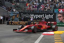 May 25, 2019 - Monte Carlo, Monaco - xa9; Photo4 / LaPresse.25/05/2019 Monte Carlo, Monaco.Sport .Grand Prix Formula One Monaco 2019.In the pic: Sebastian Vettel (GER) Scuderia Ferrari SF90 (Credit Image: © Photo4/Lapresse via ZUMA Press)