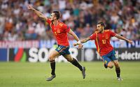FUSSBALL UEFA U21-EUROPAMEISTERSCHAFT FINALE 2019  in Italien  Spanien - Deutschland   30.06.2019 JUBEL Spanien; Torschuetze zum 1-0 Fabian Ruiz (li) und Dani Ceballos