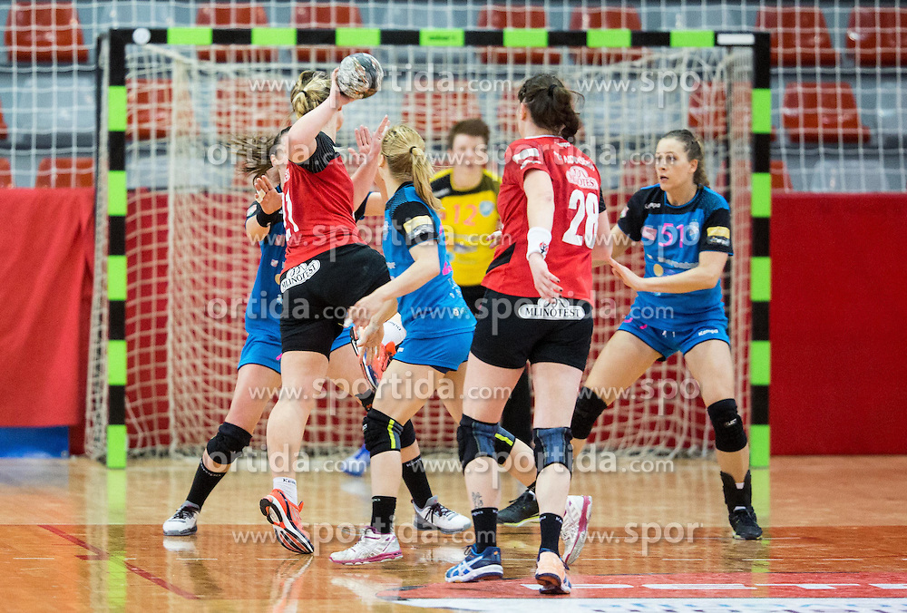 Spela Ferfolja of Mlinotest during handball match between RK Krim Mercator and RK Mlinotest Ajdovscina in Final of Slovenian Women Cup 2015/16, on March 27, 2016 in Arena Kodeljevo, Ljubljana, Slovenia. Photo by Vid Ponikvar / Sportida