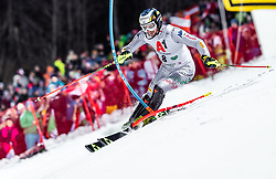 "29.01.2019, Planai, Schladming, AUT, FIS Weltcup Ski Alpin, Slalom, Herren, 1. Lauf, im Bild Manfred Moelgg (ITA) // Manfred Moelgg of Italy in action during his 1st run of men's Slalom ""the Nightrace"" of FIS ski alpine world cup at the Planai in Schladming, Austria on 2019/01/29. EXPA Pictures © 2019, PhotoCredit: EXPA/ JFK"