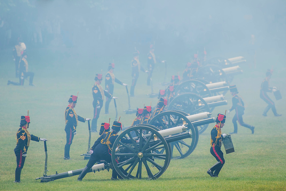 Preparing to leave - The King's Troop Royal Horse Artillery fire celebratory a Royal Salute at 1pm on Saturday 2nd June to mark the Coronation Day.