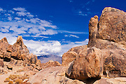 Boulders in the Alabama Hills, Lone Pine, California USA