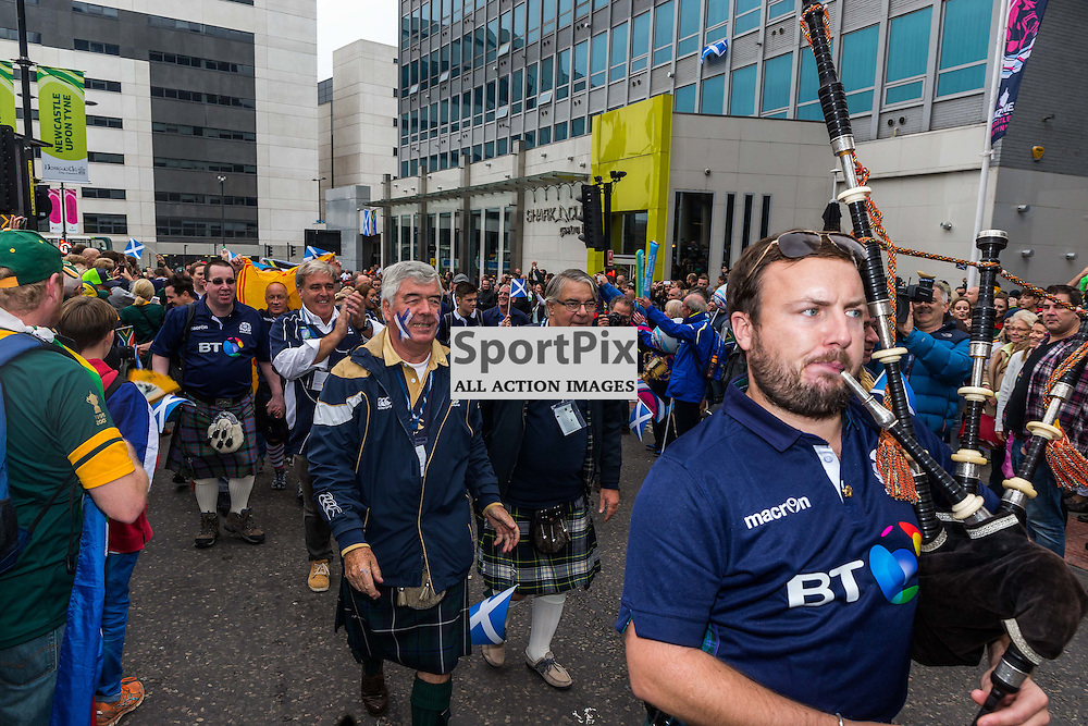 Fans outside the stadium before the Rugby World Cup match between Scotland and South Africa (c) ROSS EAGLESHAM   Sportpix.co.uk