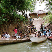 Residents of the Mepe district along the Volta River in Ghana use boats for transport and for fishing. <br /> Photo by Lori Waselchuk/South Photographs<br /> horizontal/color