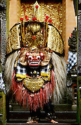 """Batubulan. The Barong, a lion-like creature, """"good"""" opponent to the """"evil"""" Rangda, the widow-witch."""