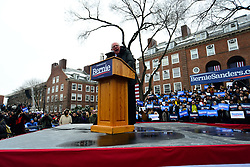 Bernie Sanders, Independent US Senator from Vermont speaks on stage as he kicks-off his campaign for the 2020 U.S. Presidential Elections on a Democratic ticket at a rally at Brooklyn College, in Brooklyn, NY on March 2, 2019.