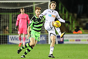 Swansea City's George Byers controls the ball during the EFL Trophy match between Forest Green Rovers and U21 Swansea City at the New Lawn, Forest Green, United Kingdom on 31 October 2017. Photo by Shane Healey.