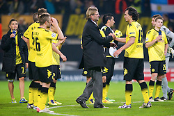 01.11.2011, Signal Iduna Park, Dortmund, GER, UEFA Champions League, Vorrunde, Borussia Dortmund (GER) vs Olympiacos Piraeus (GRE), im Bild Juergen Klopp (Trainer Dortmund) und Mats Hummels (#15 Dortmund) nach dem Spiel // during Borussia Dortmund (GER) vs Olympiacos Piraeus (GRE) at Signal Iduna Park, Dortmund, GER, 2011-11-01. EXPA Pictures © 2011, PhotoCredit: EXPA/ nph/  Kurth       ****** out of GER / CRO  / BEL ******