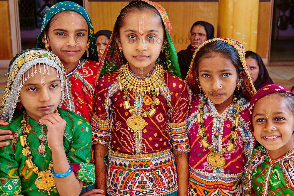 Inde, Gujarat, Kutch, village de Padhar, population Ahir // India, Gujarat, Kutch, Padhar village, Ahir ethnic group