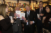 Stanley Johnson and Boris Johnson, Book party for 'The Dream of Rome' by Boris Johnson. Daunts bookshop. Marylebone High St. London.  1 February 2006. -DO NOT ARCHIVE-© Copyright Photograph by Dafydd Jones 66 Stockwell Park Rd. London SW9 0DA Tel 020 7733 0108 www.dafjones.com